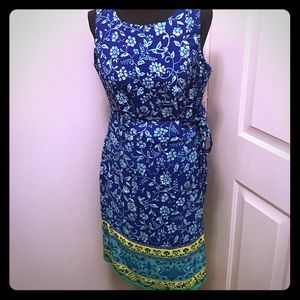 Colorful Faux Wrap Dress